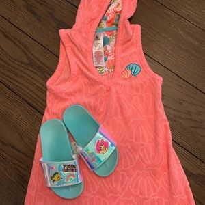 Disney Swim cover up and sandals